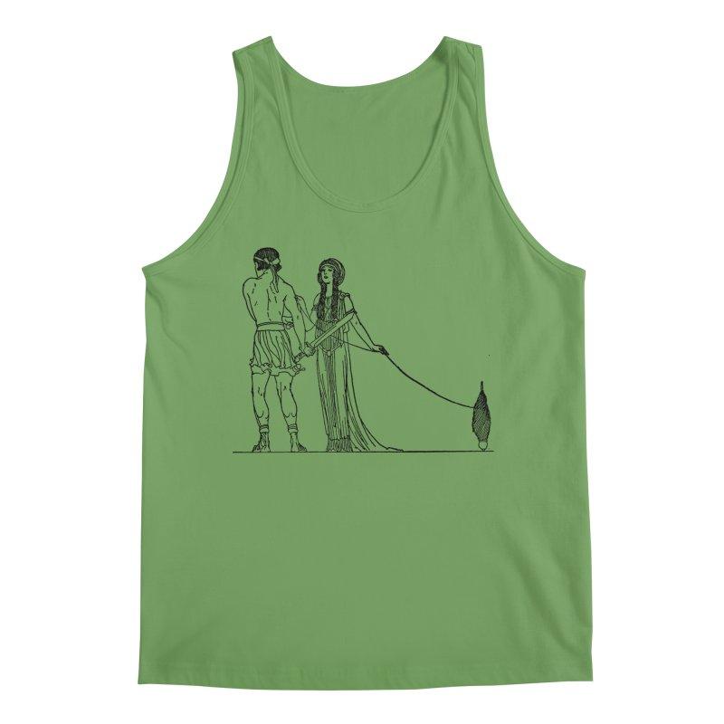 Theseus and Ariadne Men's Tank by Green Grackle Studio