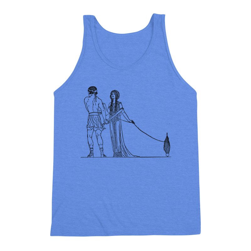 Theseus and Ariadne Men's Triblend Tank by Green Grackle Studio