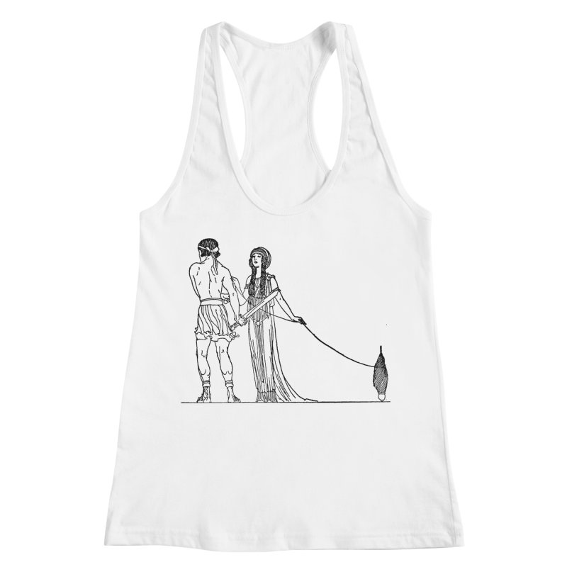 Theseus and Ariadne Women's Racerback Tank by Green Grackle Studio