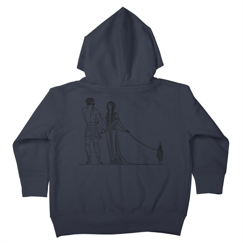 Theseus and Ariadne Kids Toddler Zip-Up Hoody by Green Grackle Studio