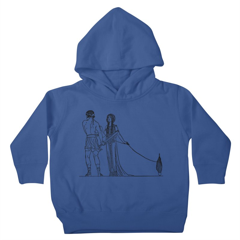 Theseus and Ariadne Kids Toddler Pullover Hoody by Green Grackle Studio