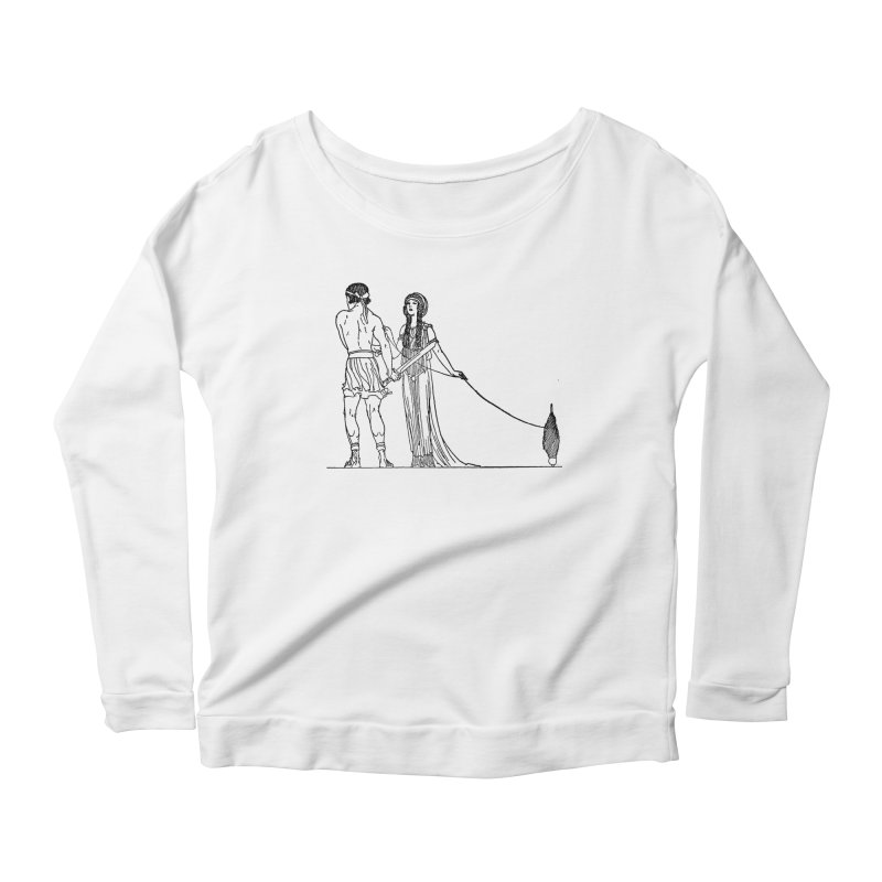 Theseus and Ariadne Women's Scoop Neck Longsleeve T-Shirt by Green Grackle Studio