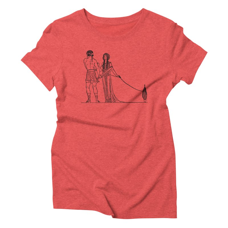 Theseus and Ariadne Women's Triblend T-Shirt by Green Grackle Studio
