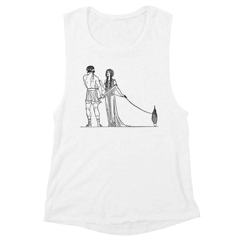 Theseus and Ariadne Women's Muscle Tank by Green Grackle Studio