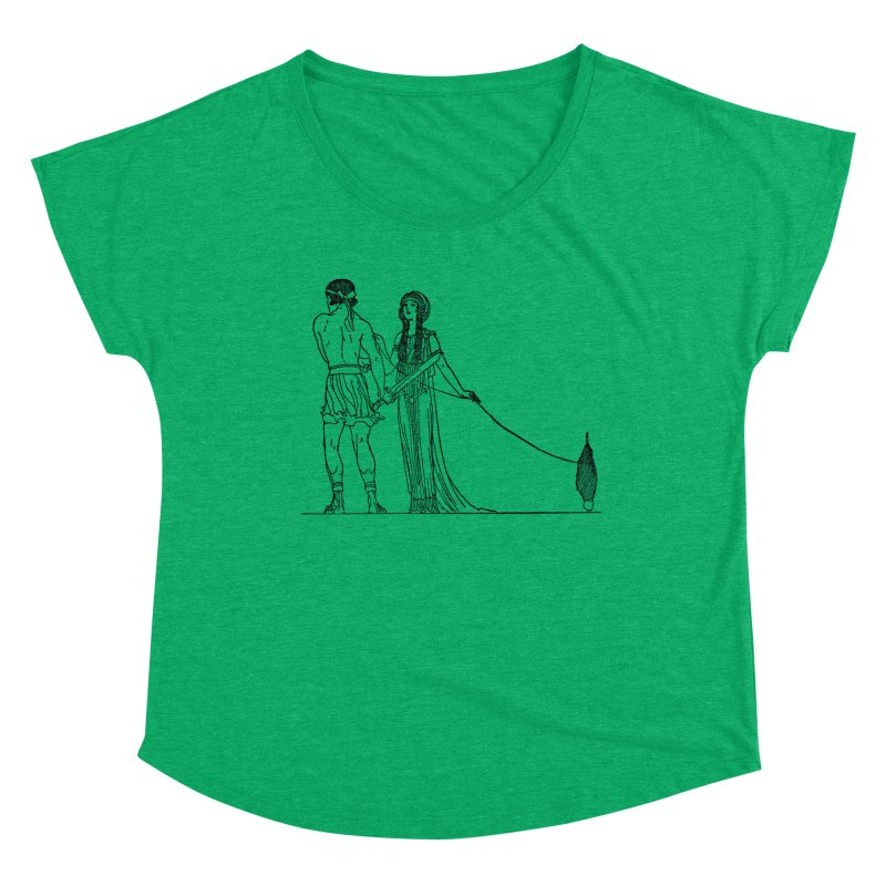 Theseus and Ariadne Women's Scoop Neck by Green Grackle Studio