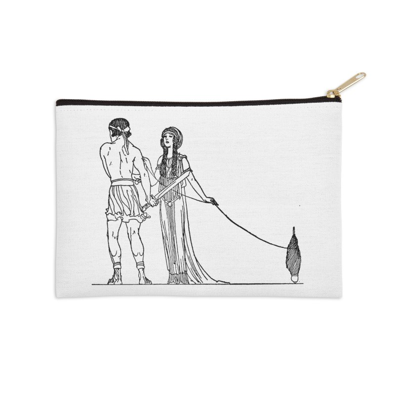 Theseus and Ariadne Accessories Zip Pouch by Green Grackle Studio