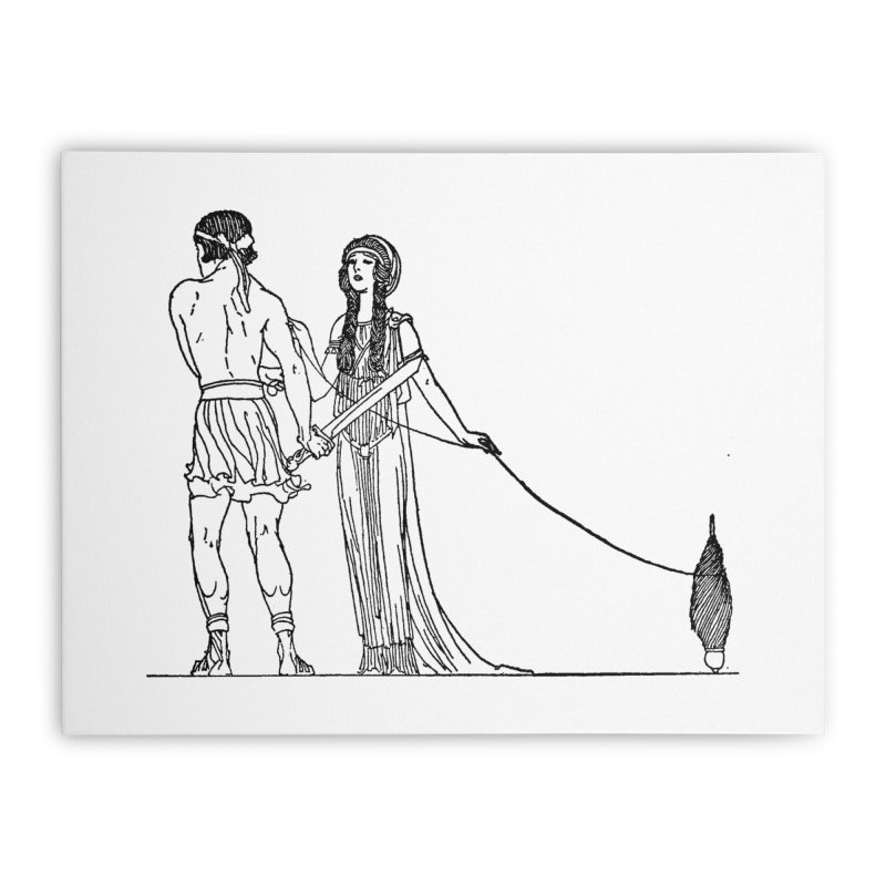 Theseus and Ariadne Home Stretched Canvas by Green Grackle Studio