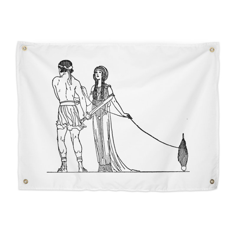 Theseus and Ariadne Home Tapestry by Green Grackle Studio