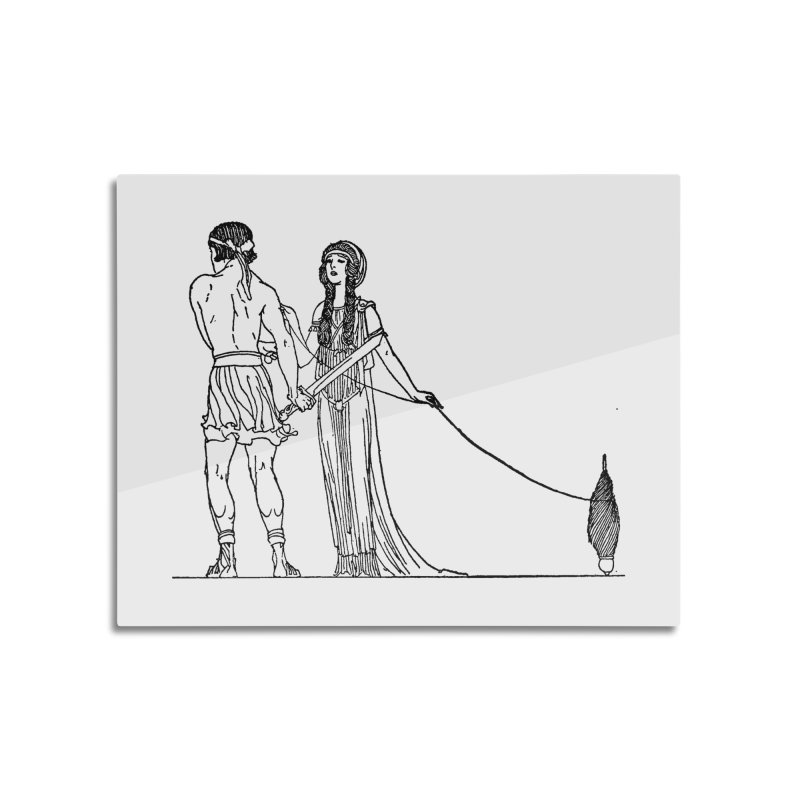 Theseus and Ariadne Home Mounted Aluminum Print by Green Grackle Studio