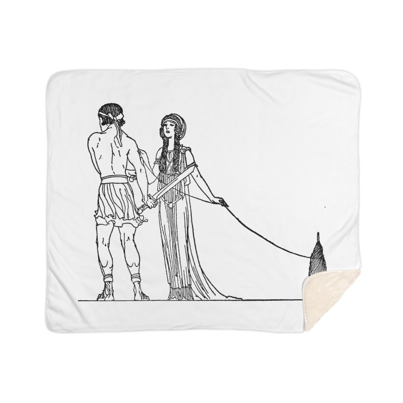 Theseus and Ariadne Home Sherpa Blanket Blanket by Green Grackle Studio