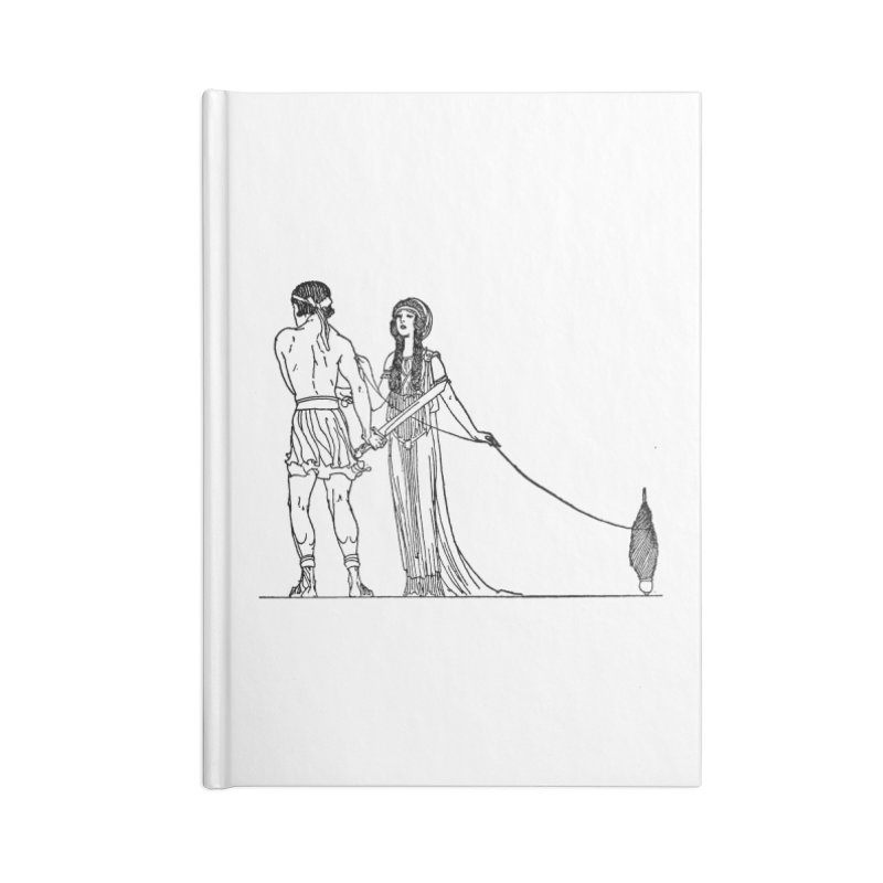 Theseus and Ariadne Accessories Lined Journal Notebook by Green Grackle Studio