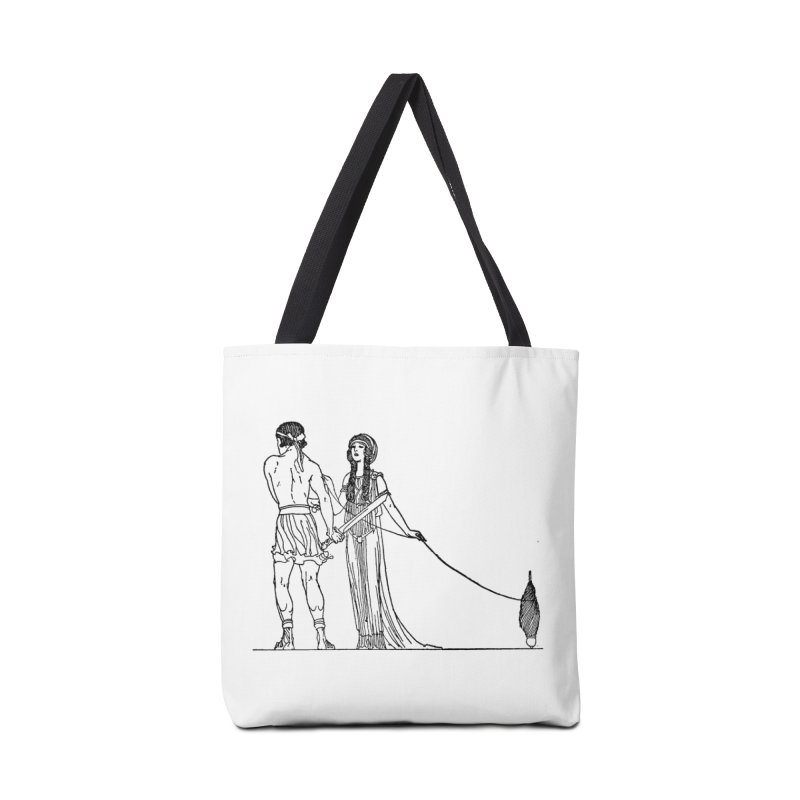Theseus and Ariadne Accessories Tote Bag Bag by Green Grackle Studio