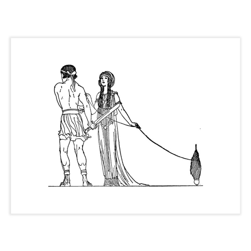 Theseus and Ariadne Home Fine Art Print by Green Grackle Studio