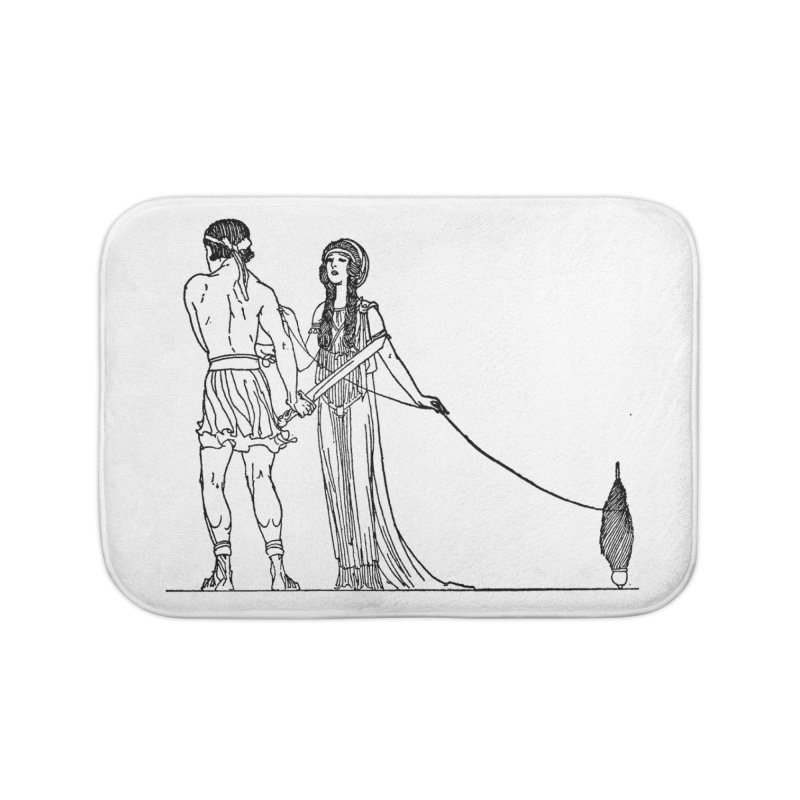 Theseus and Ariadne Home Bath Mat by Green Grackle Studio