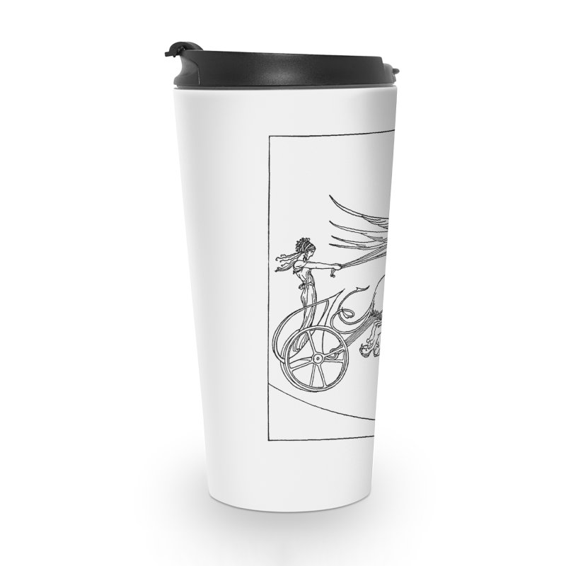Medea and her Dragon Chariot Accessories Travel Mug by Green Grackle Studio