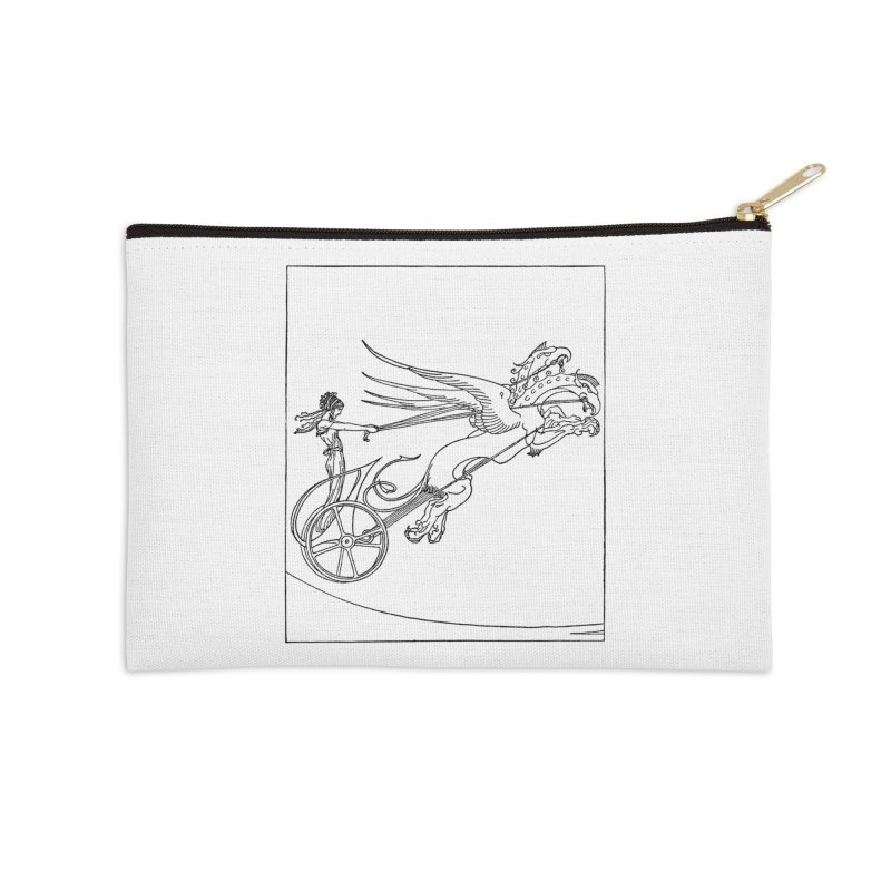Medea and her Dragon Chariot Accessories Zip Pouch by Green Grackle Studio