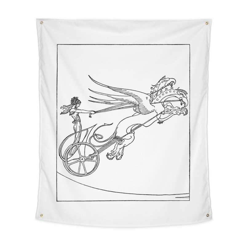 Medea and her Dragon Chariot Home Tapestry by Green Grackle Studio