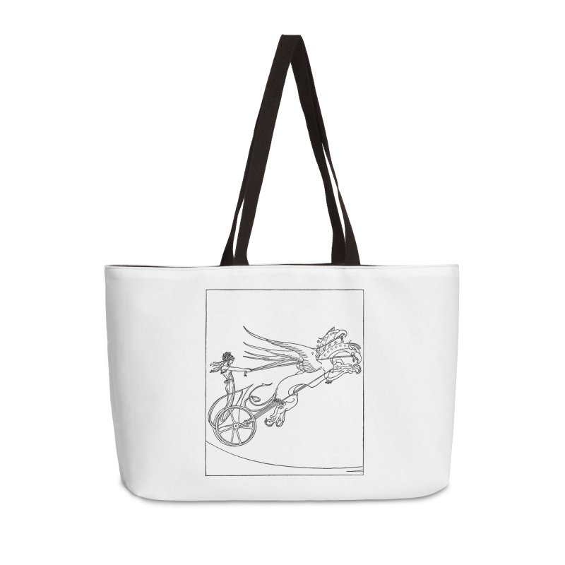 Medea and her Dragon Chariot Accessories Weekender Bag Bag by Green Grackle Studio
