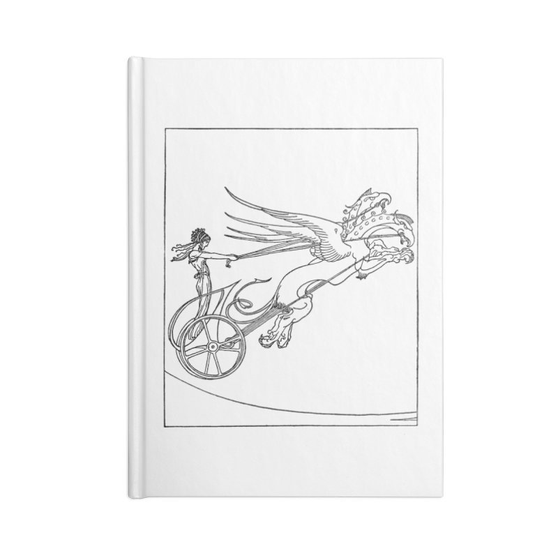 Medea and her Dragon Chariot Accessories Blank Journal Notebook by Green Grackle Studio