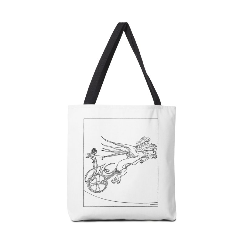 Medea and her Dragon Chariot Accessories Tote Bag Bag by Green Grackle Studio