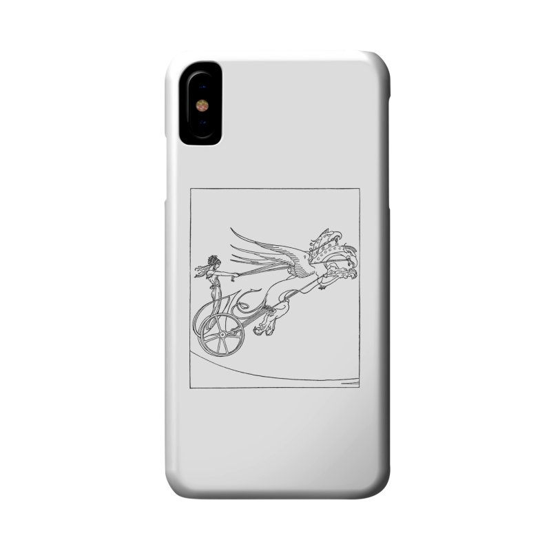Medea and her Dragon Chariot Accessories Phone Case by Green Grackle Studio