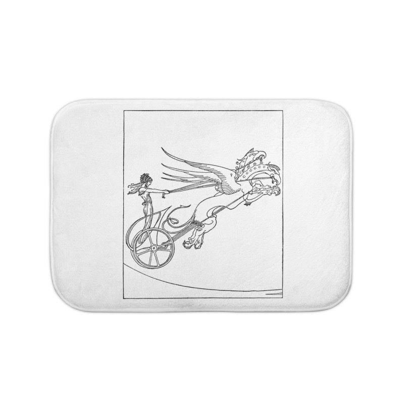 Medea and her Dragon Chariot Home Bath Mat by Green Grackle Studio