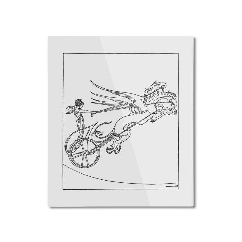 Medea and her Dragon Chariot Home Mounted Aluminum Print by Green Grackle Studio