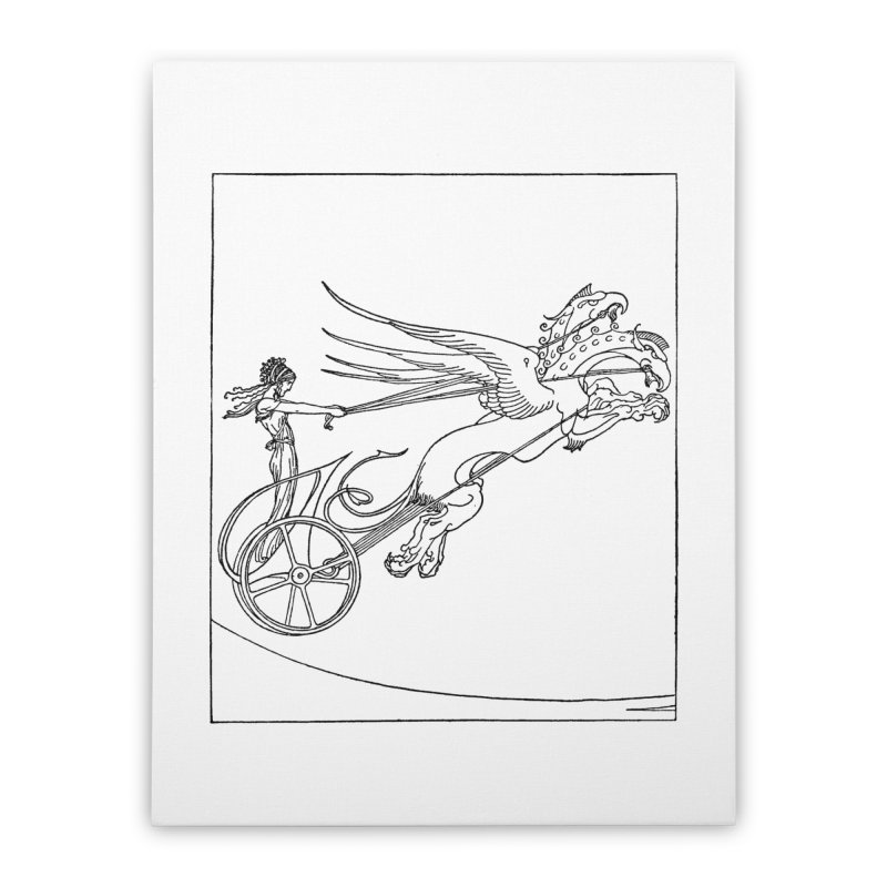Medea and her Dragon Chariot Home Stretched Canvas by Green Grackle Studio