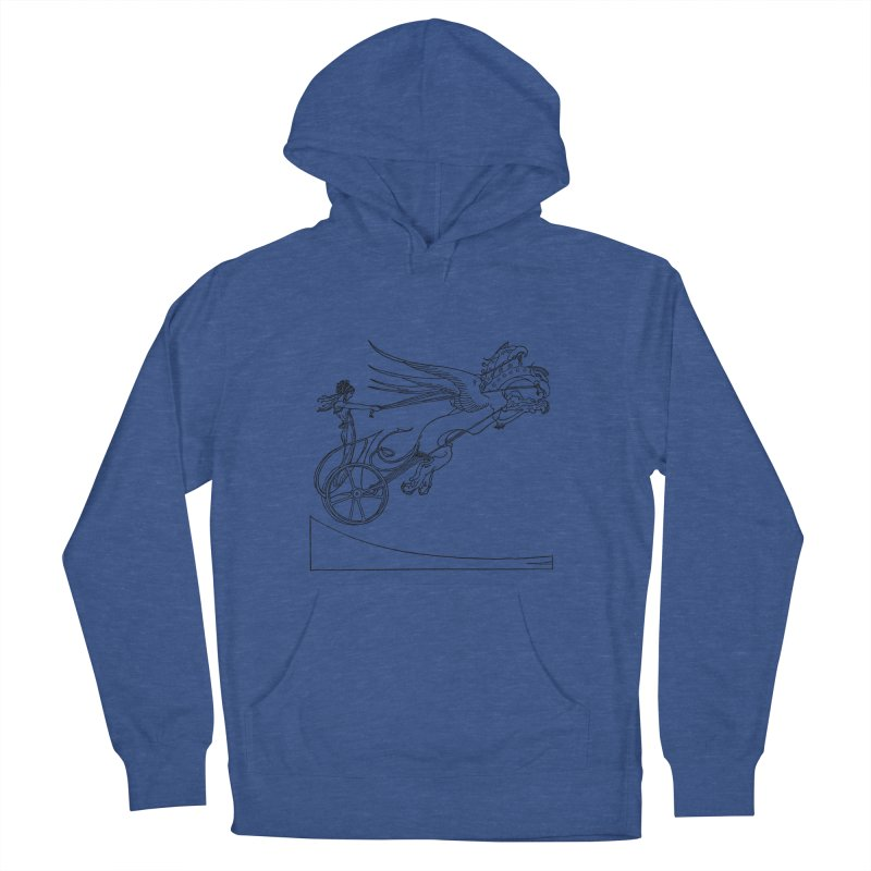 Medea and her Dragon Chariot Women's French Terry Pullover Hoody by Green Grackle Studio