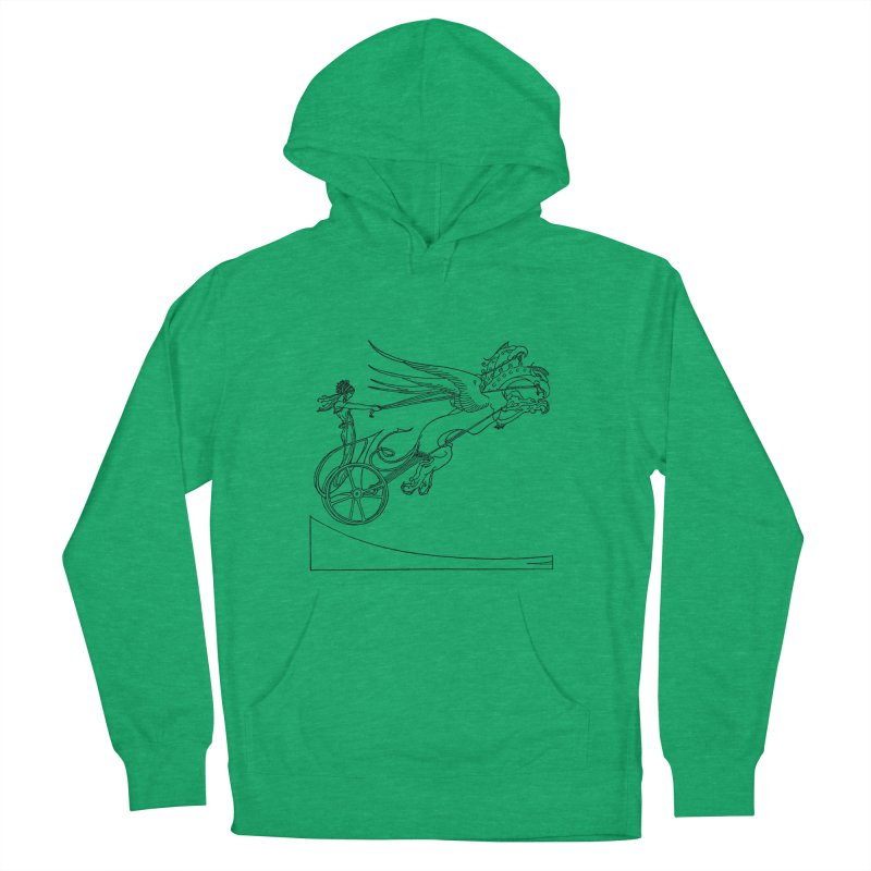 Medea and her Dragon Chariot Men's French Terry Pullover Hoody by Green Grackle Studio