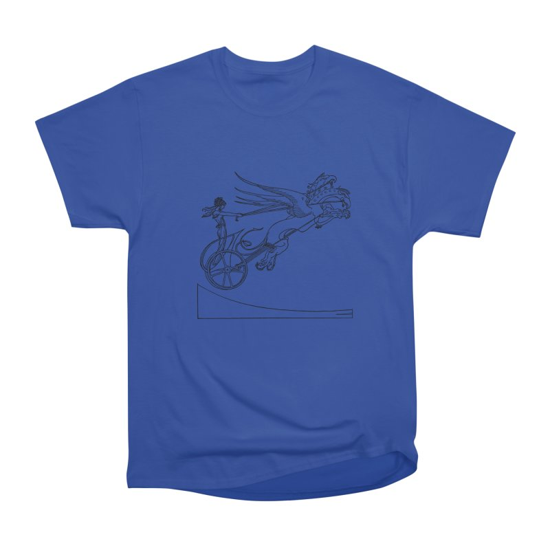 Medea and her Dragon Chariot Women's Heavyweight Unisex T-Shirt by Green Grackle Studio