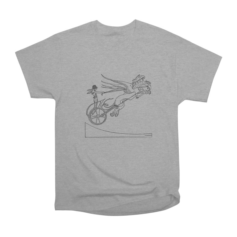 Medea and her Dragon Chariot Men's Heavyweight T-Shirt by Green Grackle Studio