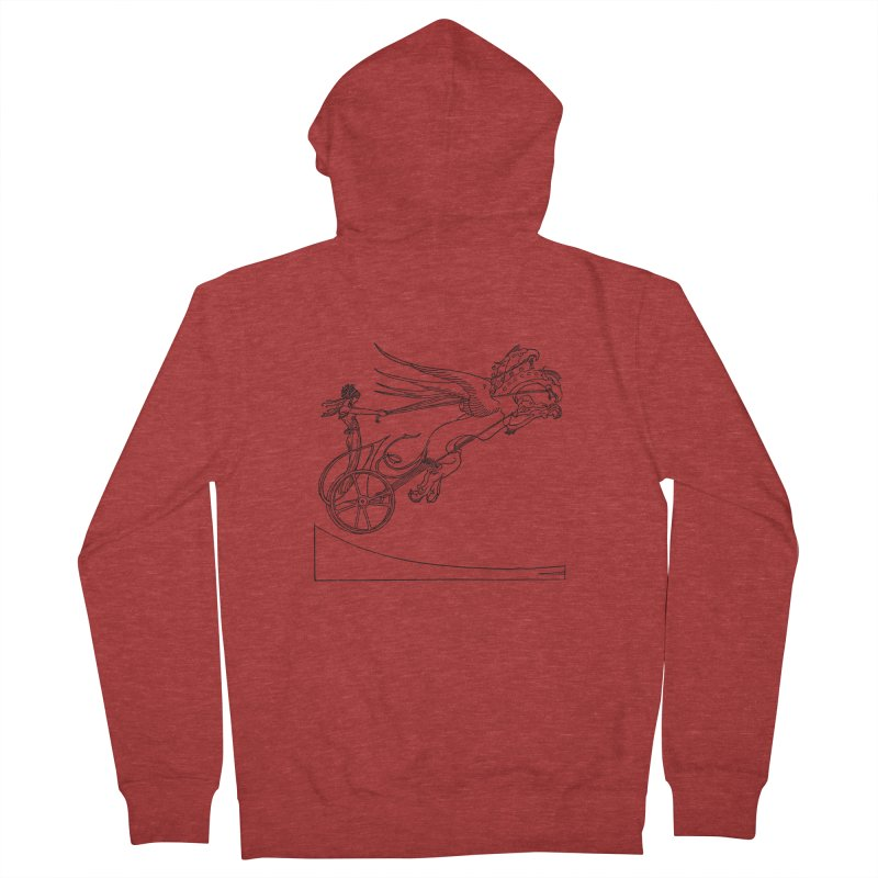 Medea and her Dragon Chariot Women's French Terry Zip-Up Hoody by Green Grackle Studio