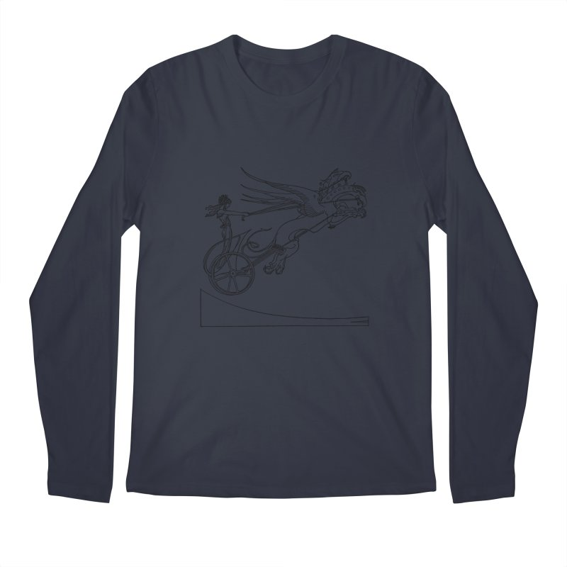 Medea and her Dragon Chariot Men's Regular Longsleeve T-Shirt by Green Grackle Studio