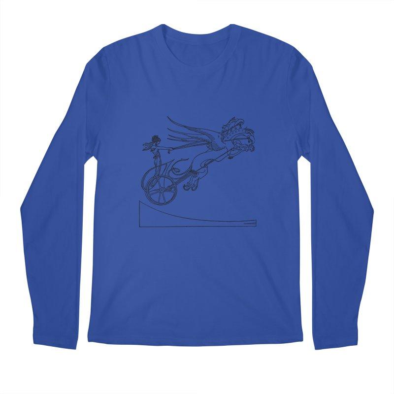 Medea and her Dragon Chariot Men's Regular Longsleeve T-Shirt by Green Grackle Studio