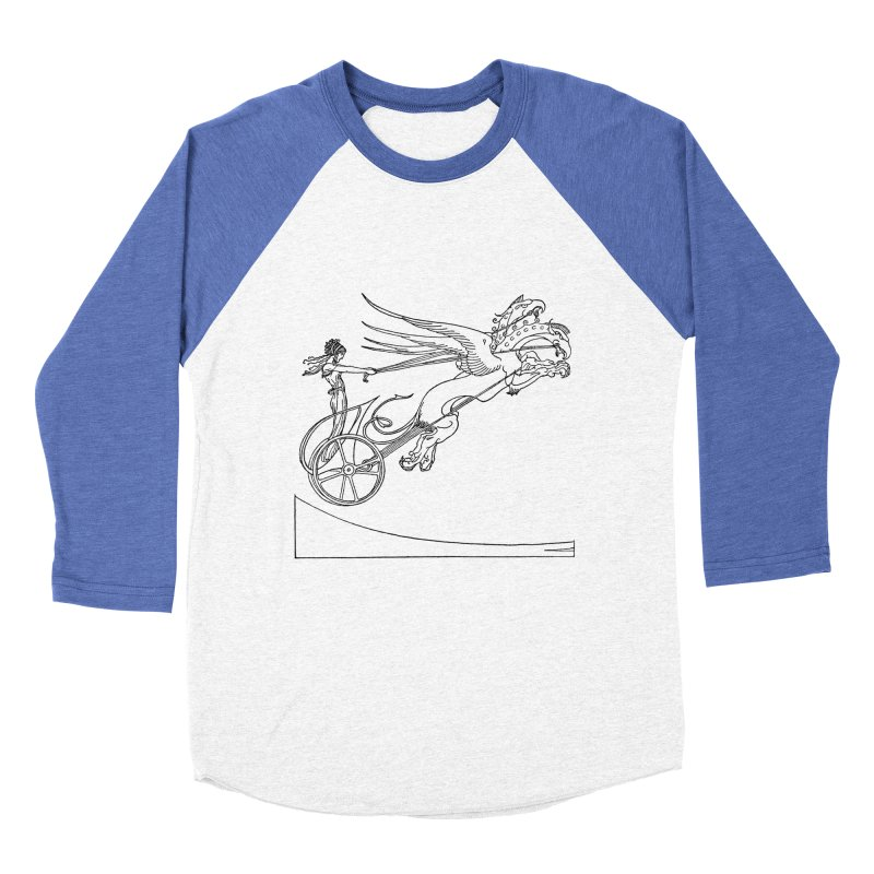 Medea and her Dragon Chariot Women's Baseball Triblend Longsleeve T-Shirt by Green Grackle Studio