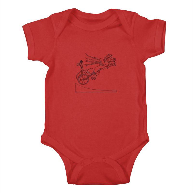 Medea and her Dragon Chariot Kids Baby Bodysuit by Green Grackle Studio