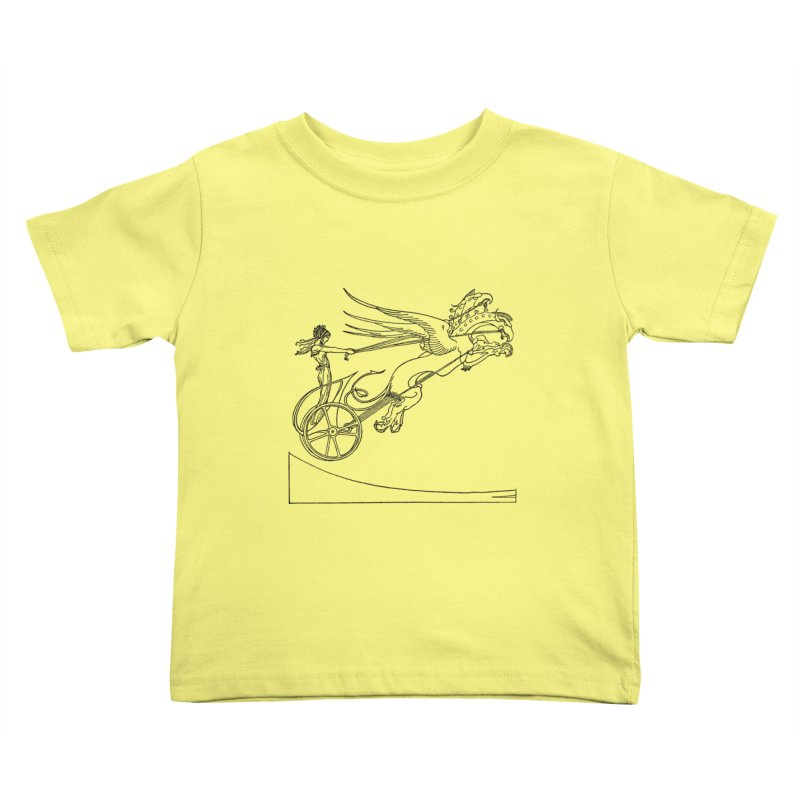 Medea and her Dragon Chariot Kids Toddler T-Shirt by Green Grackle Studio