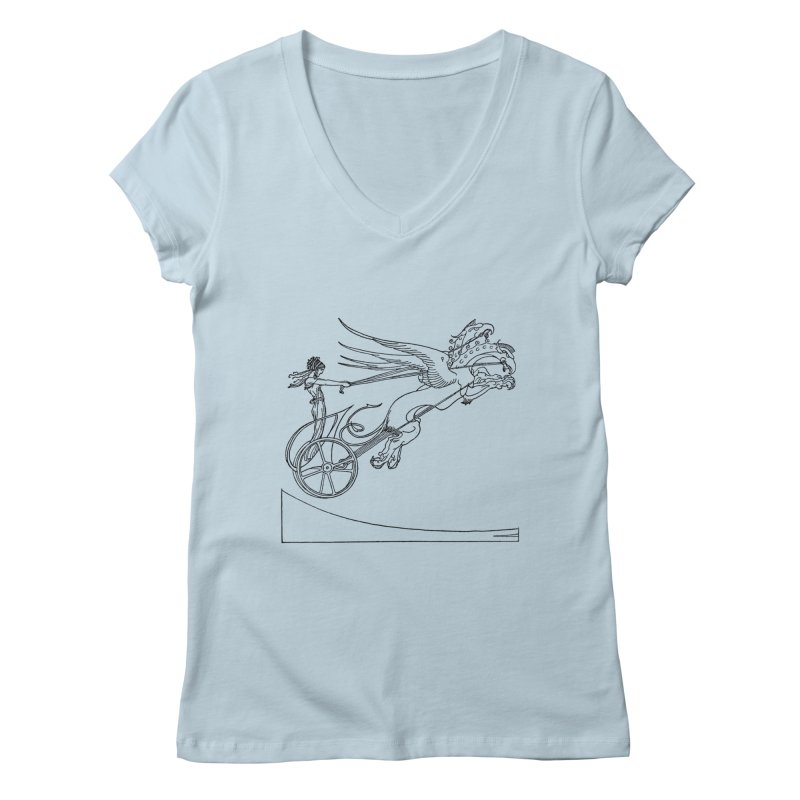 Medea and her Dragon Chariot Women's V-Neck by Green Grackle Studio