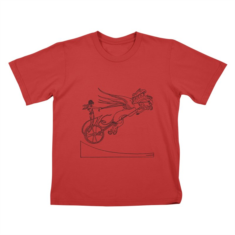 Medea and her Dragon Chariot Kids T-Shirt by Green Grackle Studio