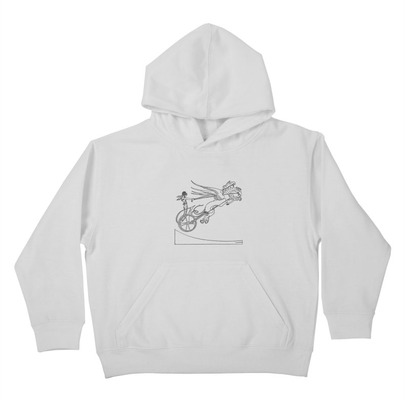 Medea and her Dragon Chariot Kids Pullover Hoody by Green Grackle Studio