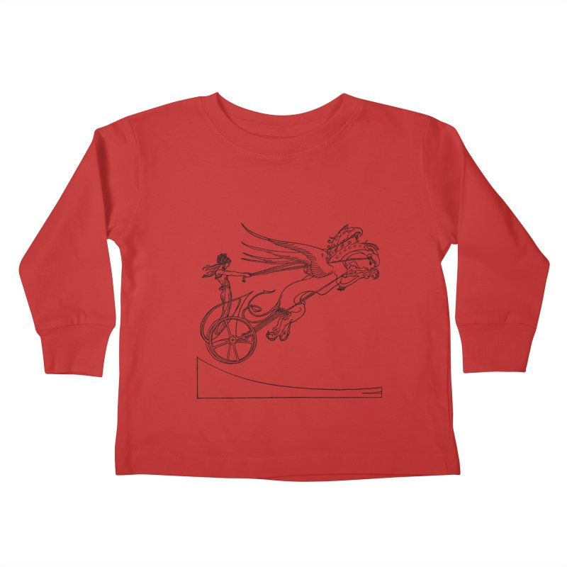 Medea and her Dragon Chariot Kids Toddler Longsleeve T-Shirt by Green Grackle Studio