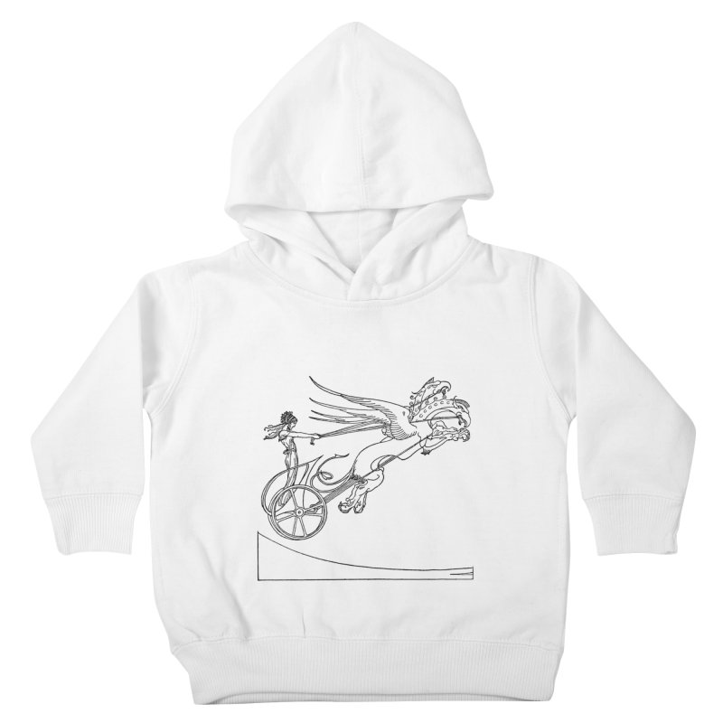 Medea and her Dragon Chariot Kids Toddler Pullover Hoody by Green Grackle Studio