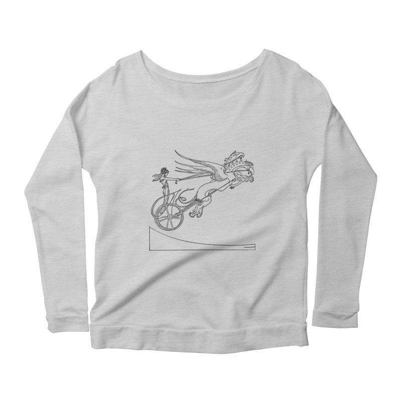 Medea and her Dragon Chariot Women's Scoop Neck Longsleeve T-Shirt by Green Grackle Studio