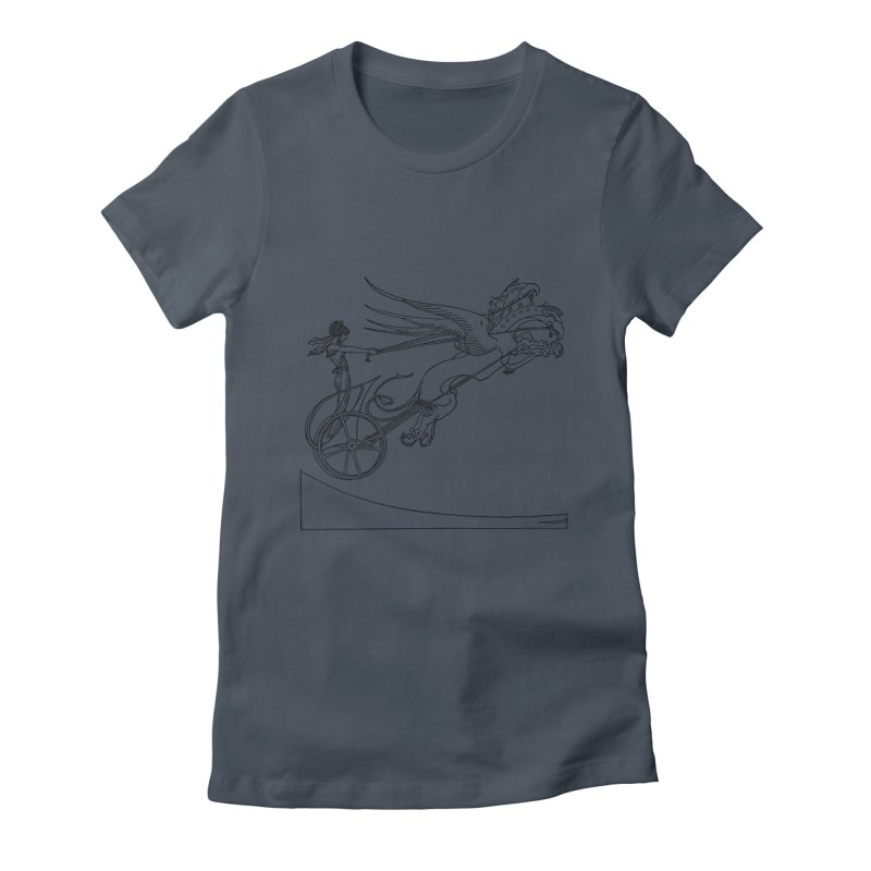 Medea and her Dragon Chariot Women's T-Shirt by Green Grackle Studio