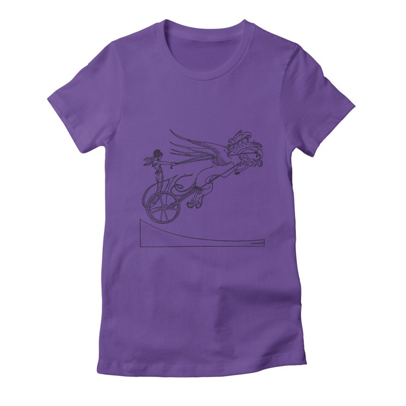 Medea and her Dragon Chariot Women's Fitted T-Shirt by Green Grackle Studio
