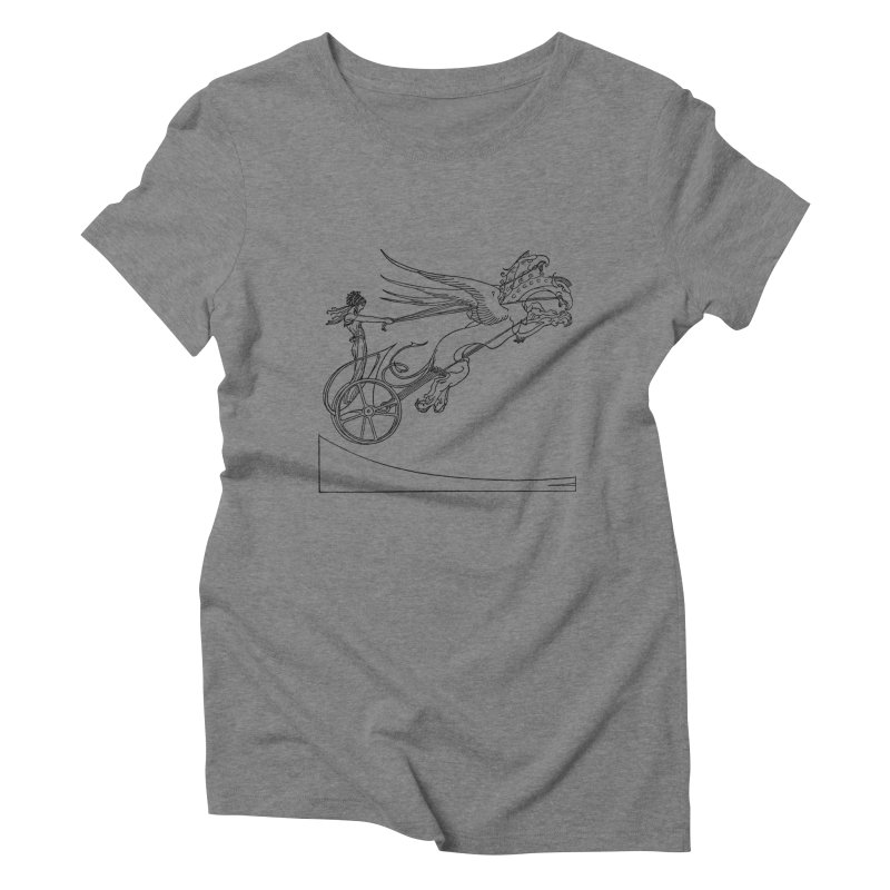 Medea and her Dragon Chariot Women's Triblend T-Shirt by Green Grackle Studio