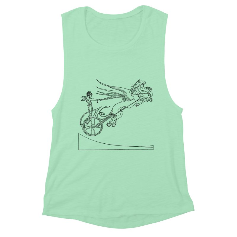 Medea and her Dragon Chariot Women's Muscle Tank by Green Grackle Studio