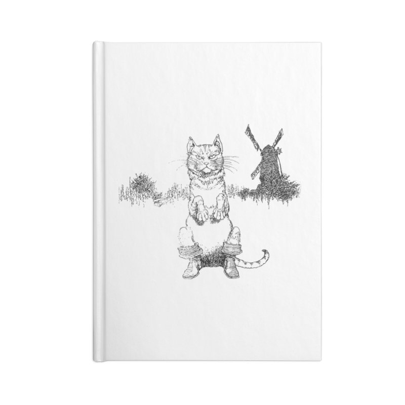 Puss in Boots Accessories Lined Journal Notebook by Green Grackle Studio