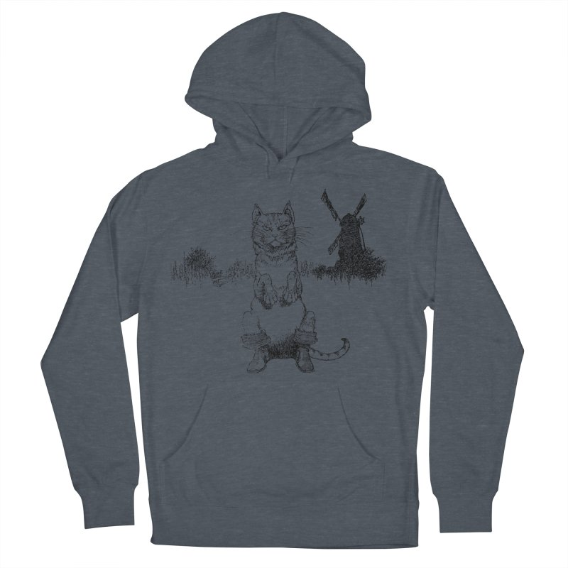 Puss in Boots Women's French Terry Pullover Hoody by Green Grackle Studio